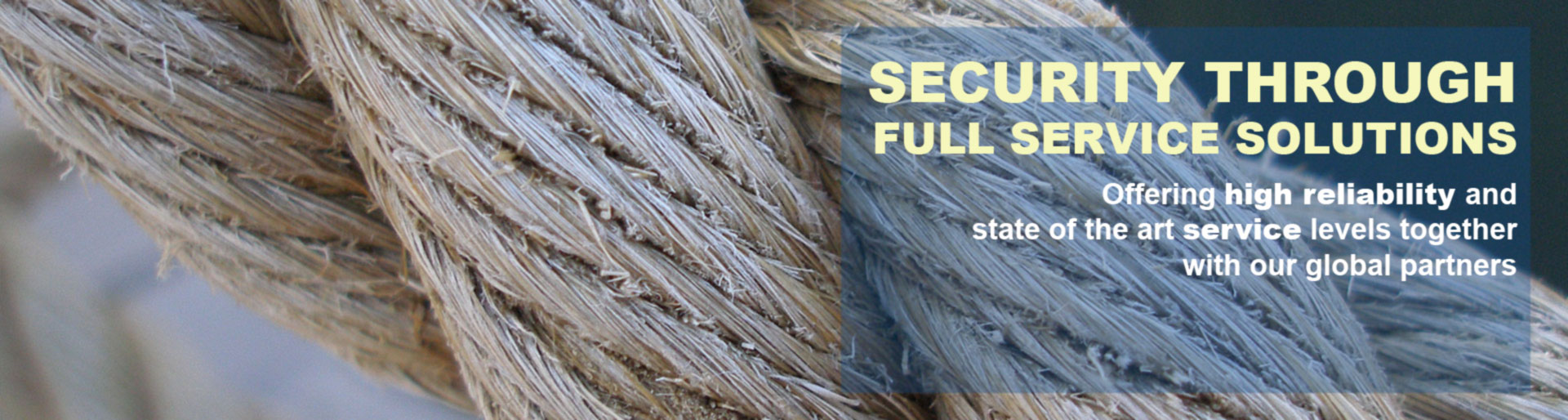 Security with full service solutions